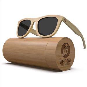 NWT Wise Owl Eco Bamboo Polarized Sunglasses
